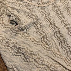 BKE, lace, long sleeve shirt